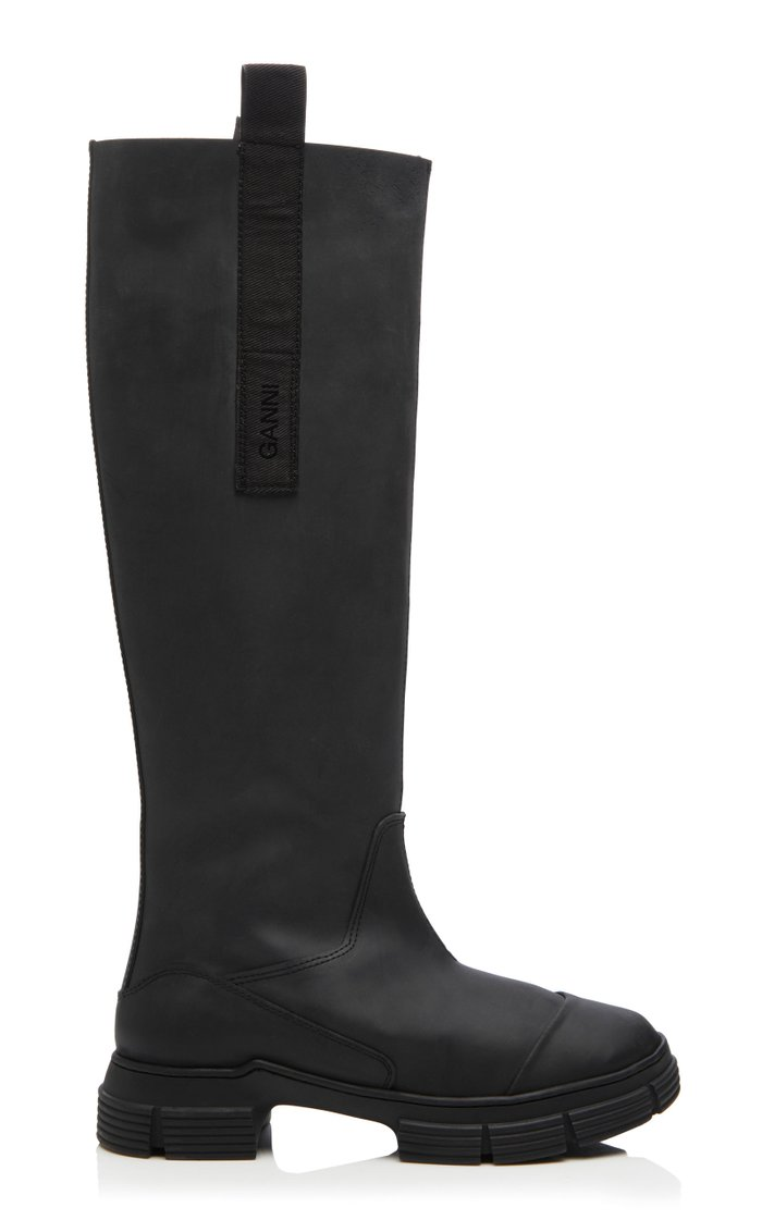 Rubber Knee-High Boots