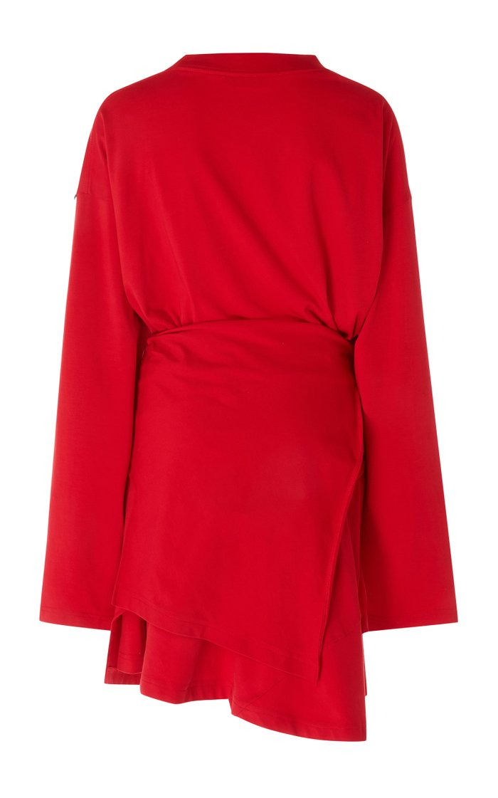Dynasty Stretch-Jersey Wrap Dress