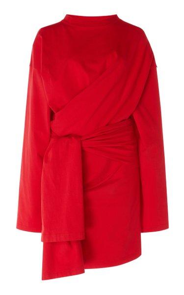 Dynasty Stretch-Jersey Wrap Dress