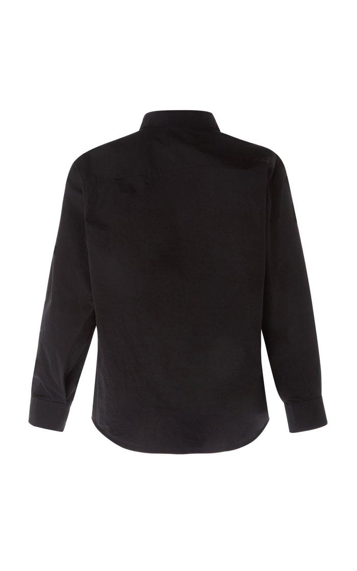 Asymmetric Cotton-Poplin Shirt