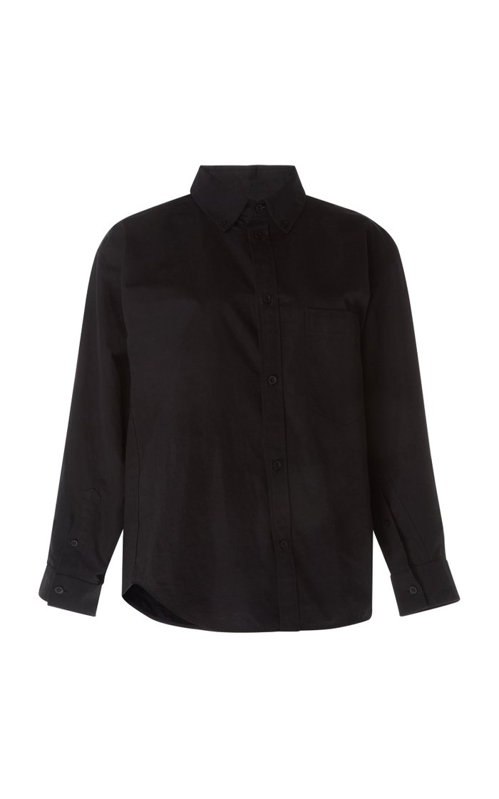 Asymmetric Cotton-Poplin Shirt