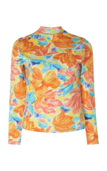 Floral-Print Jersey Top
