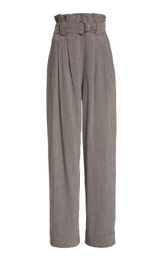 Melange High-Rise Crepe Suiting Pants