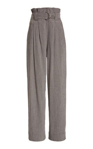 Melange High-Rise Crepe Suiting Pants