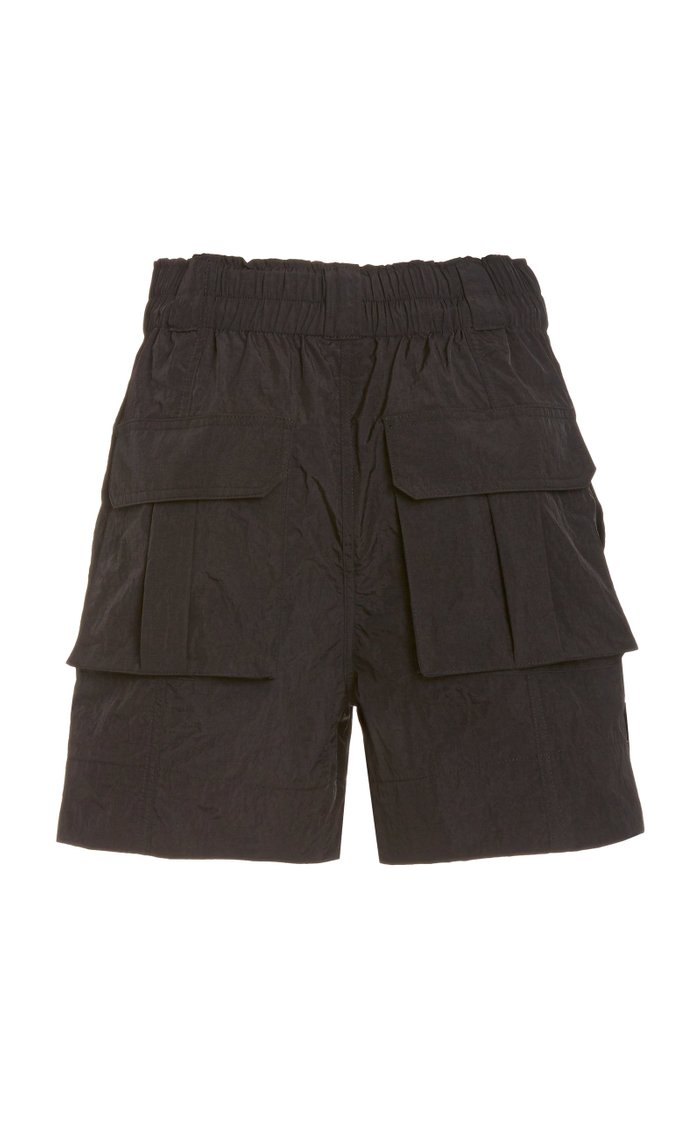 Crinkled Nylon Shorts