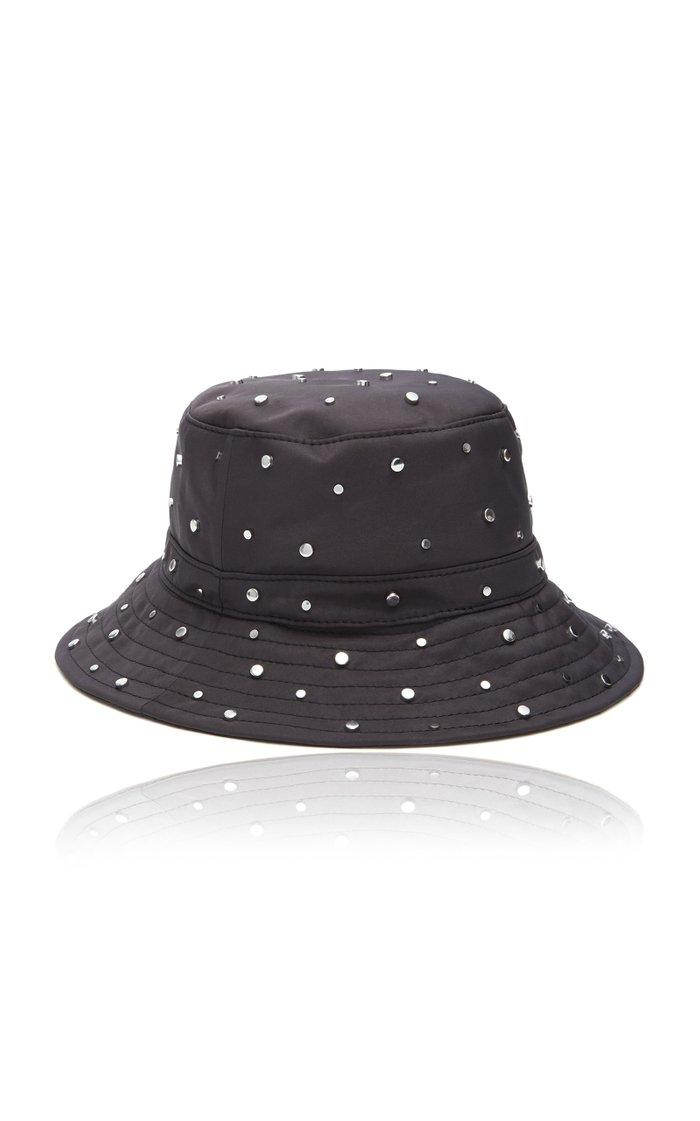 Studded Nylon Bucket Hat