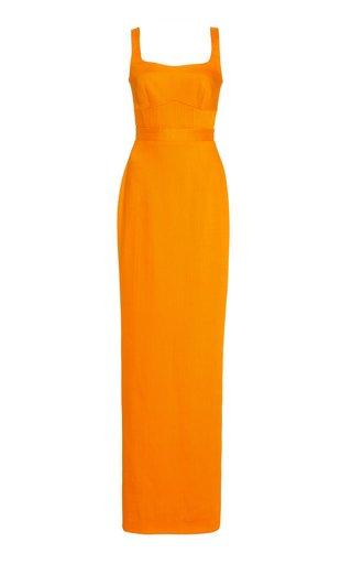 Woven Sleeveless Gown