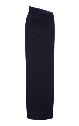 Gathered Jersey Maxi Skirt