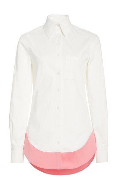 Paneled Cotton-Poplin Shirt