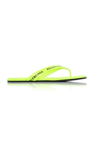 Logo Leather Thong Sandals