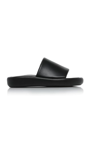 Market Leather Slides