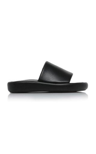 Market Leather Slides