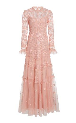 Marigold Rose Embellished Tulle Gown