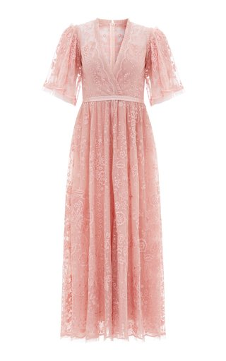 Trudy Belle Embellished Tulle Ankle-Length Gown