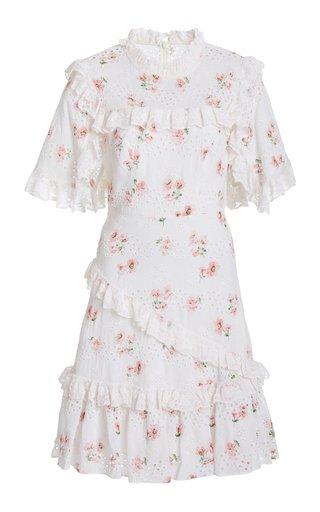 Desert Rose Cotton-Lace Mini Dress
