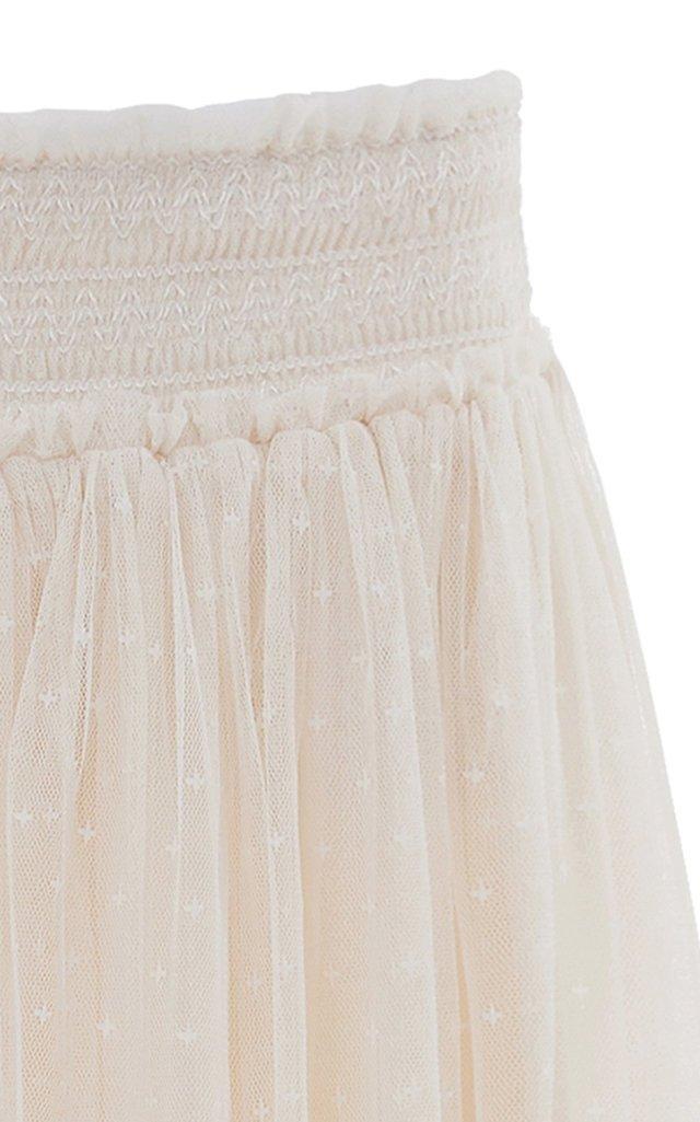 Honeycomb Smocked Maxi Skirt