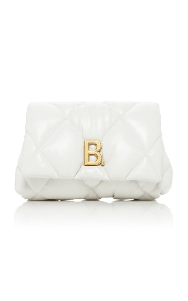 Embellished Quilted Leather Clutch