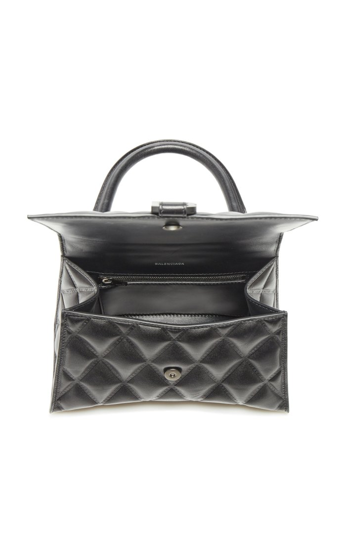 Hourglass S Quilted-Leather Bag