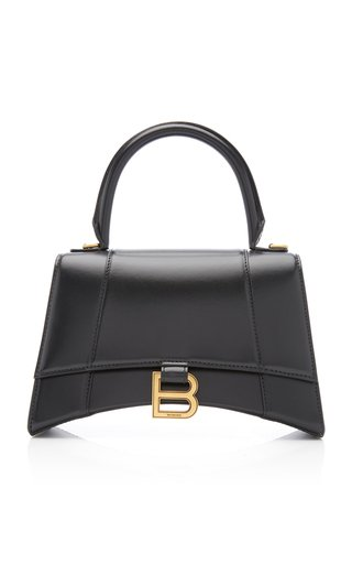 Hourglass S Polished Leather Bag