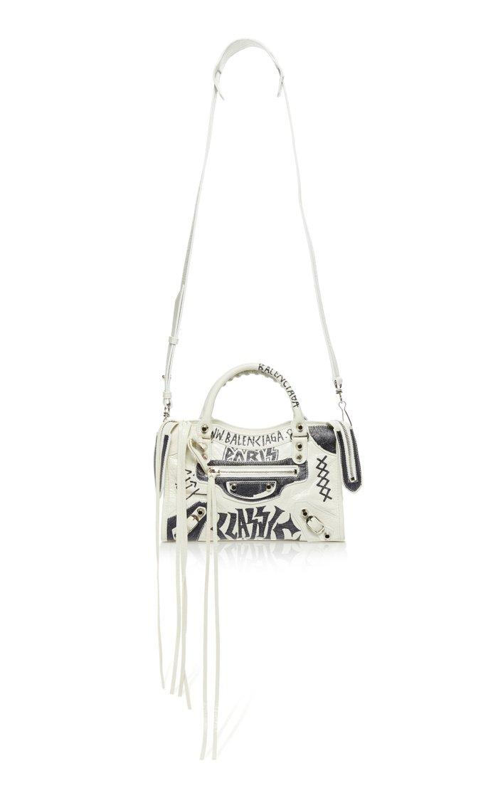 Classic City Mini Graffiti-Effect Leather Bag
