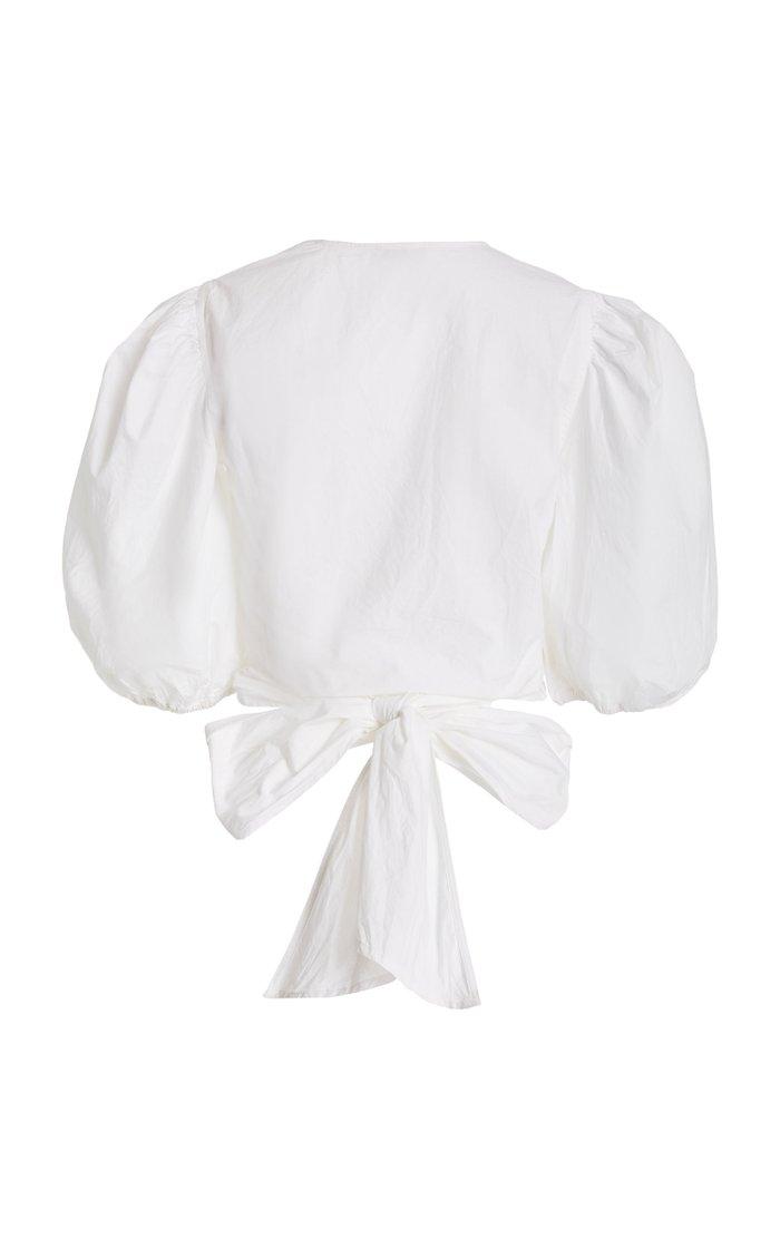 Cropped Cotton Poplin Blouse