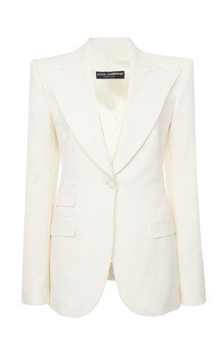 Peaked Wool-Blend Blazer
