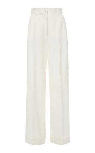 Wool-Blend Wide-Leg Trousers