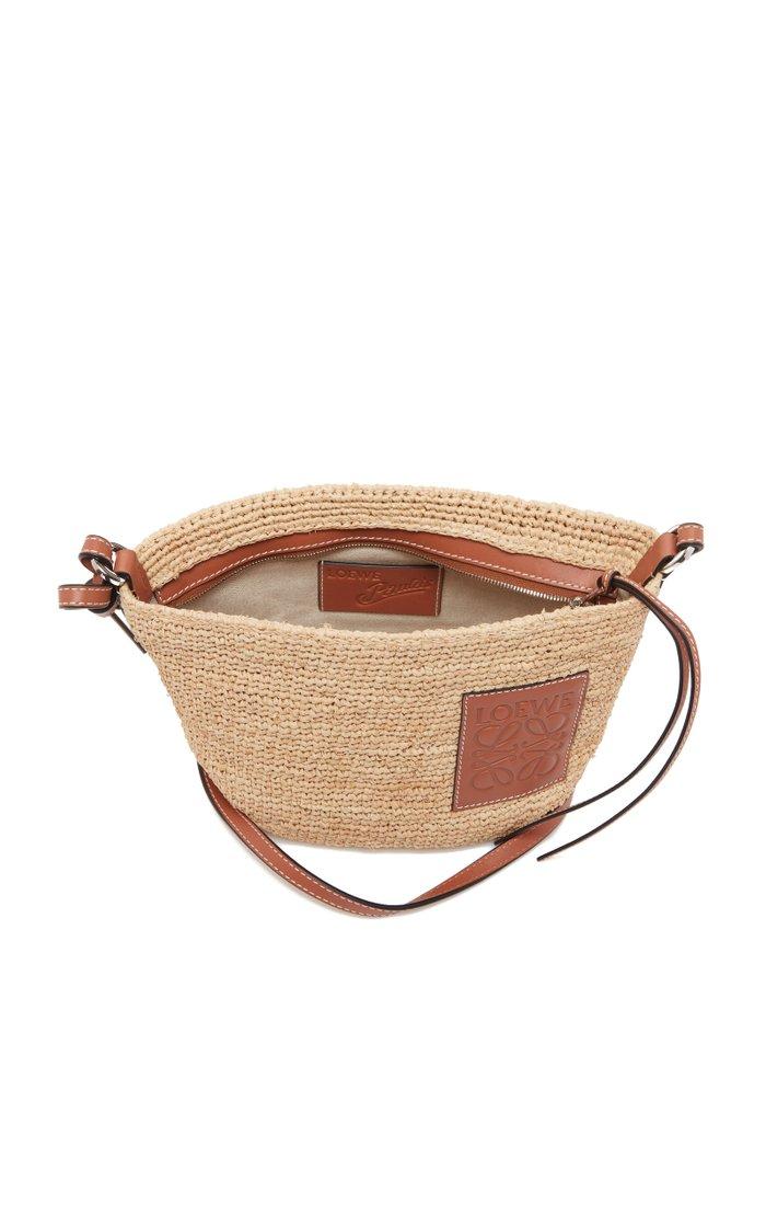 Leather-Trimmed Pochette Bag