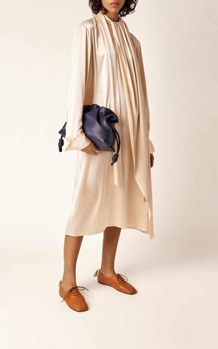 Flamenco Nappa Leather Clutch