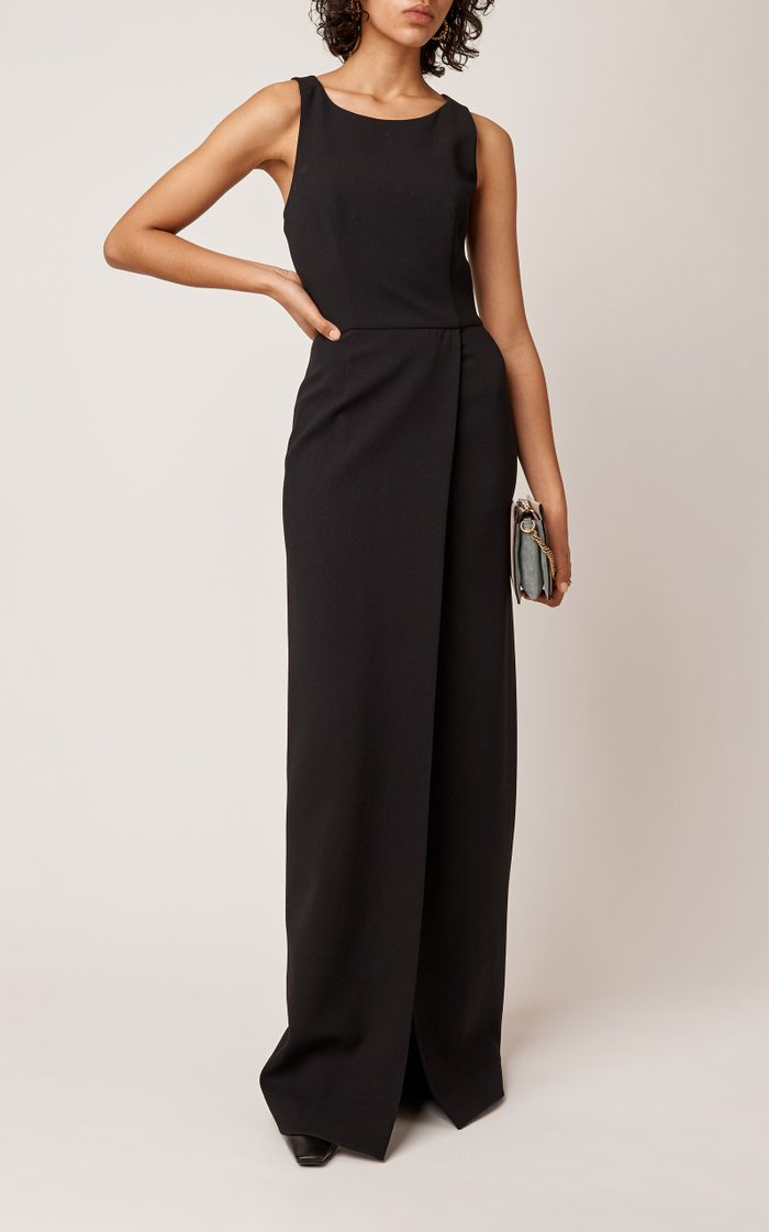 Cutout Wool Maxi Dress