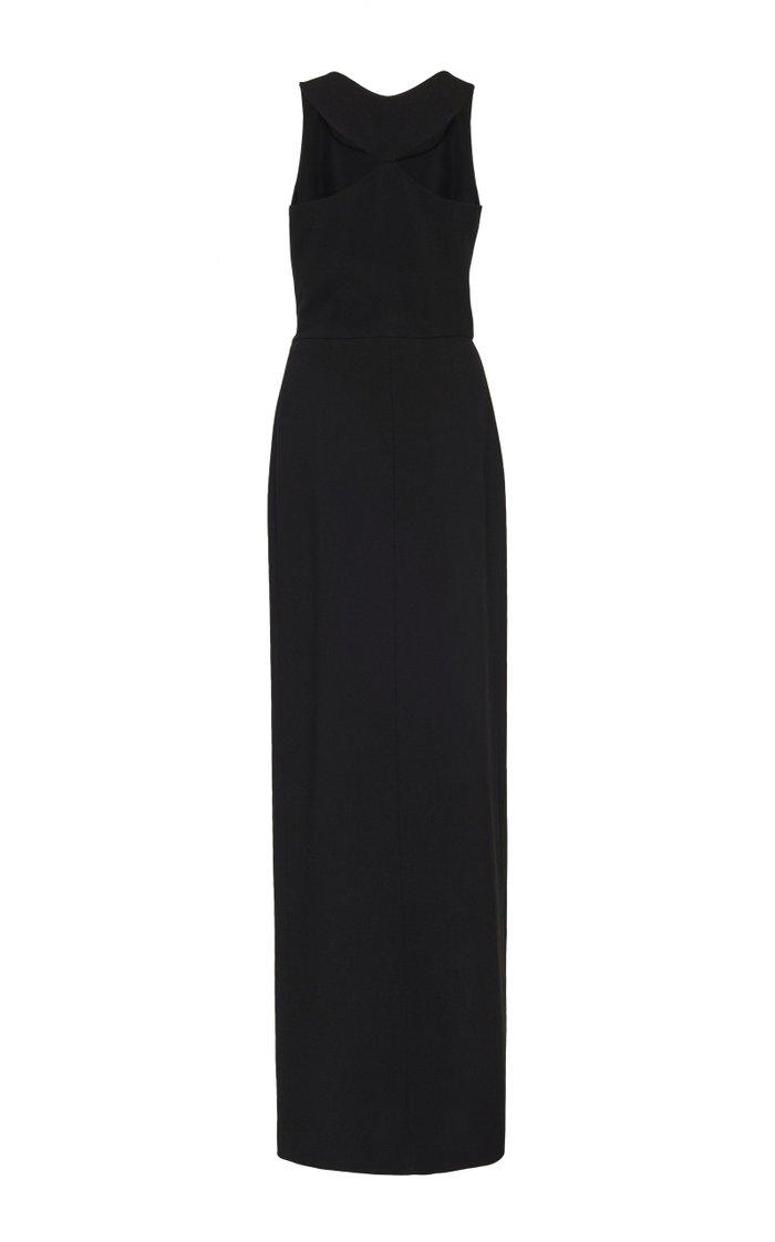 Cutout Wool Maxi Dress