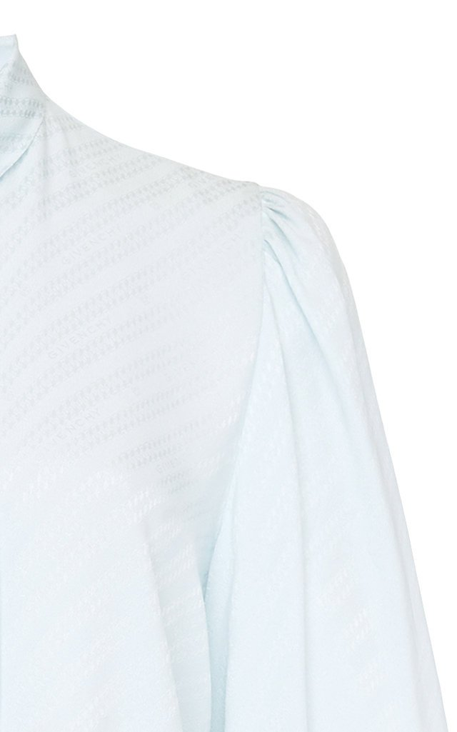 Striped Tie-Detailed Silk Blouse