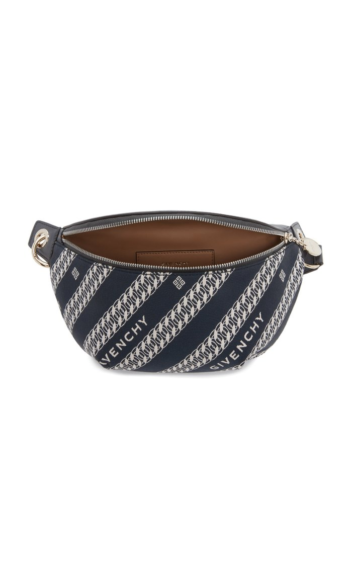 Bond Leather-Trimmed Canvas-Jacquard Belt Bag