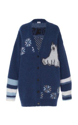 Oversized Bear-Knit Mohair-Blend Cardigan