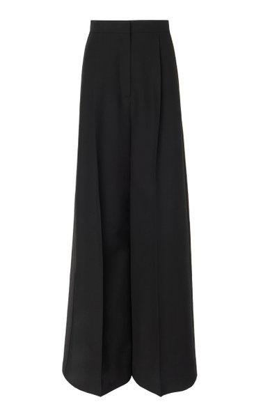 Oversized Wide-Leg Wool-Blend Pants