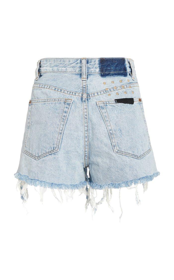 Rise N Hi Distressed Denim Shorts
