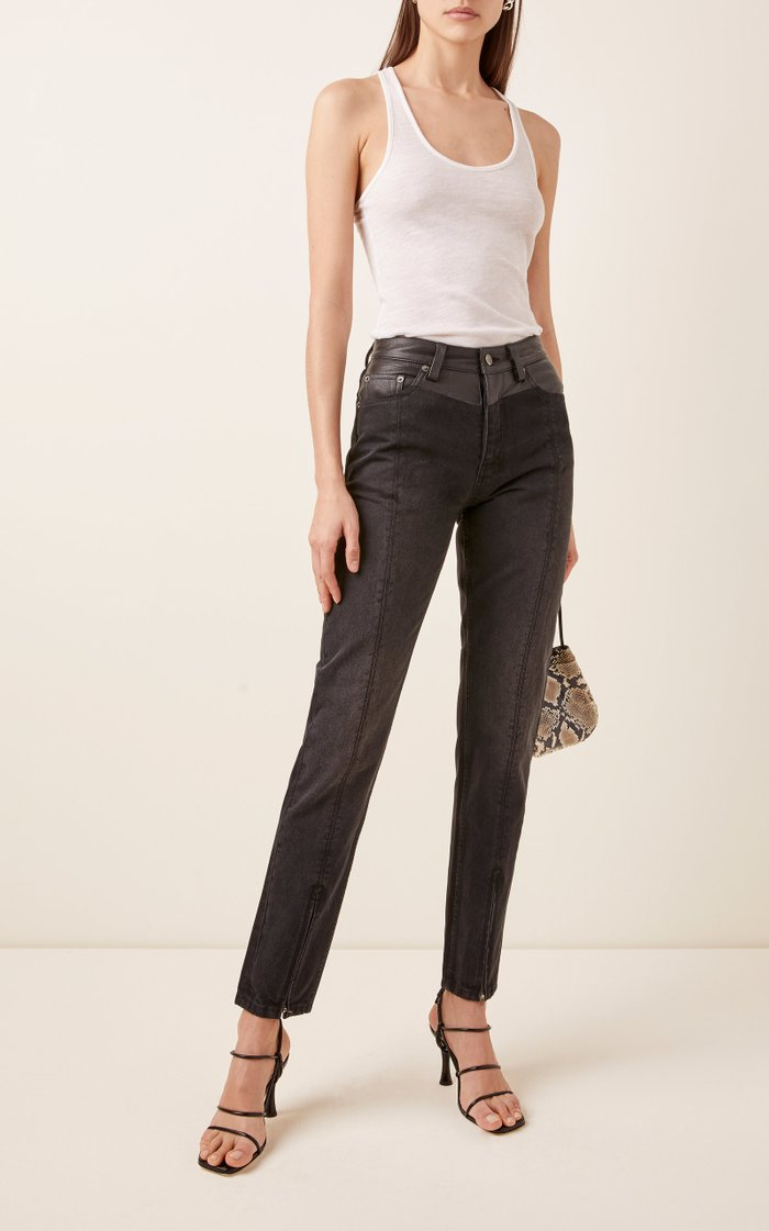 Slim Pin Rigid High-Rise Cropped Jeans