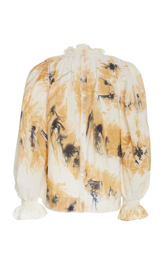 Tamara Printed Cotton-Voile Top