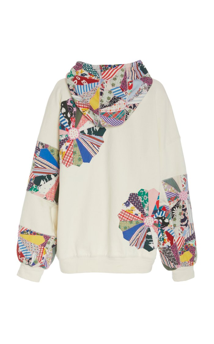 Paloma Patchwork Floral-Embroidered Cotton Hoodie