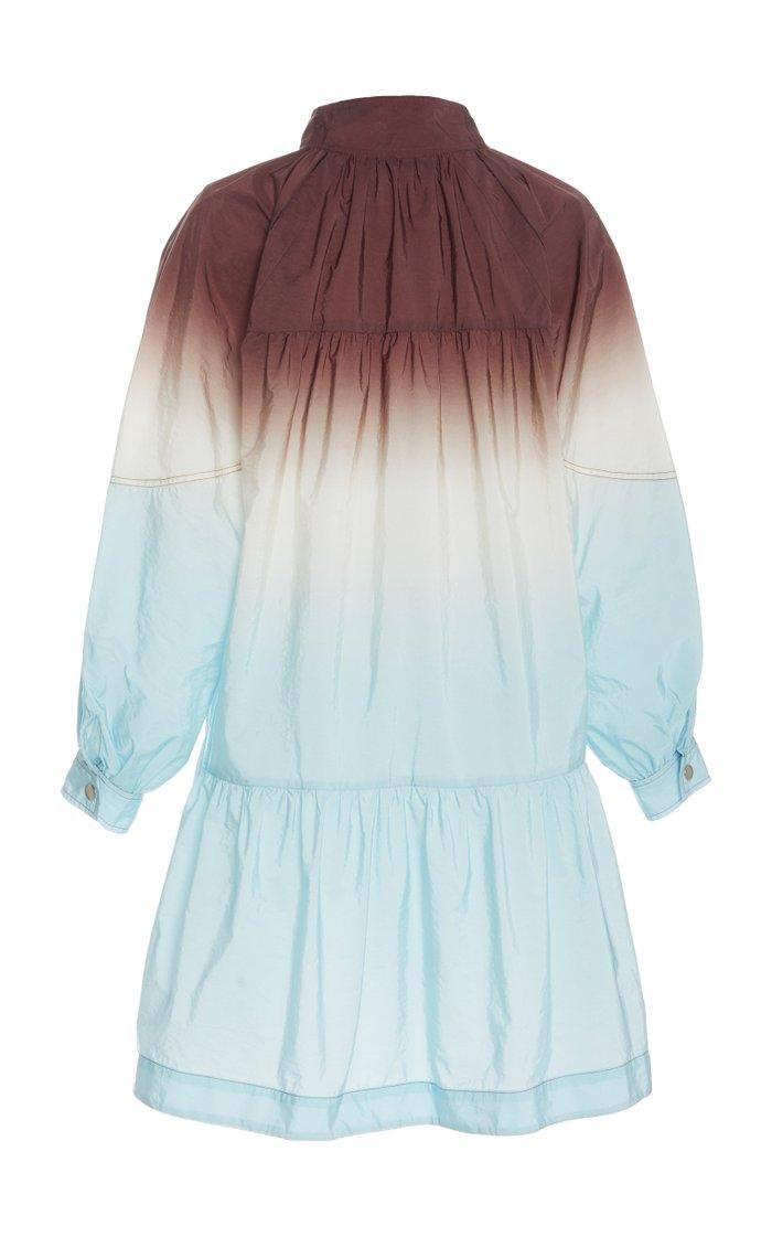 Zanna Ombre-Effect Nylon Mini Dress