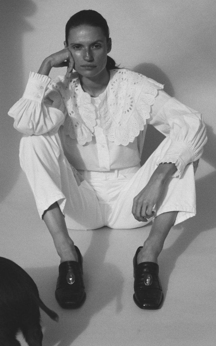 Paloma Patchwork Rigid High-Rise Straight-Leg Jean