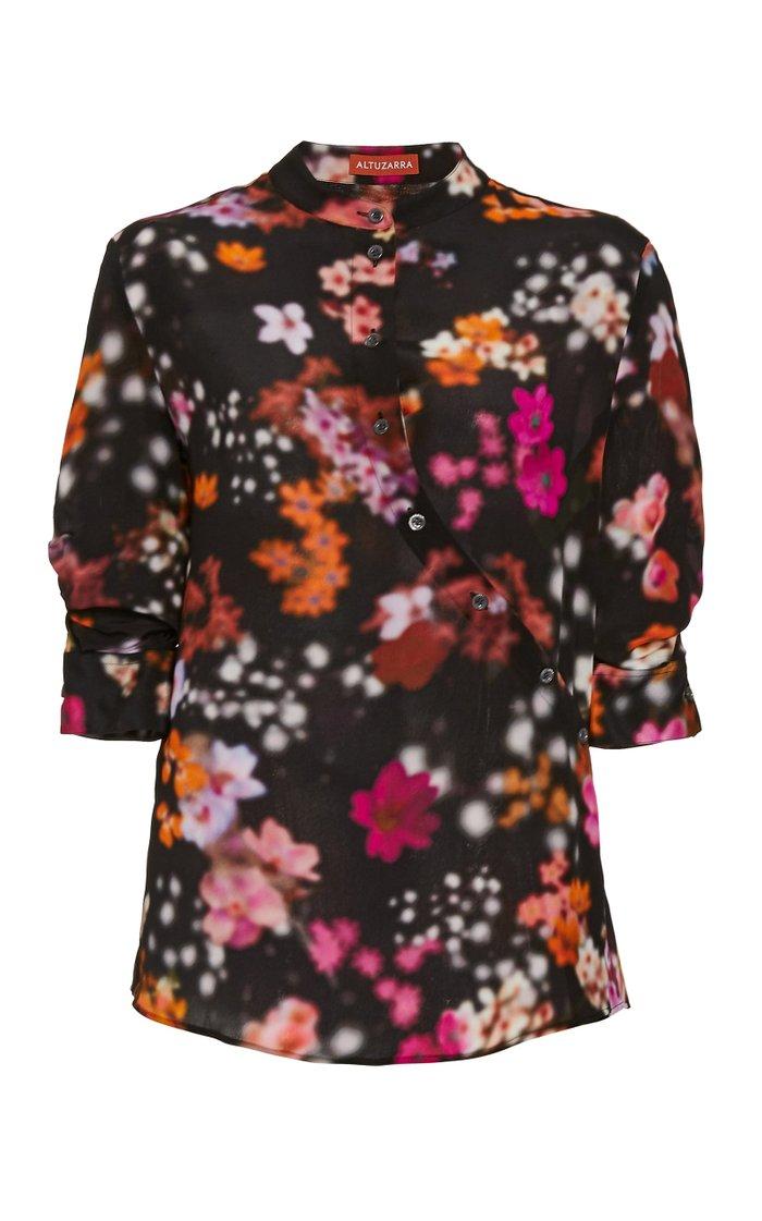 Kumi Floral Silk Georgette Top