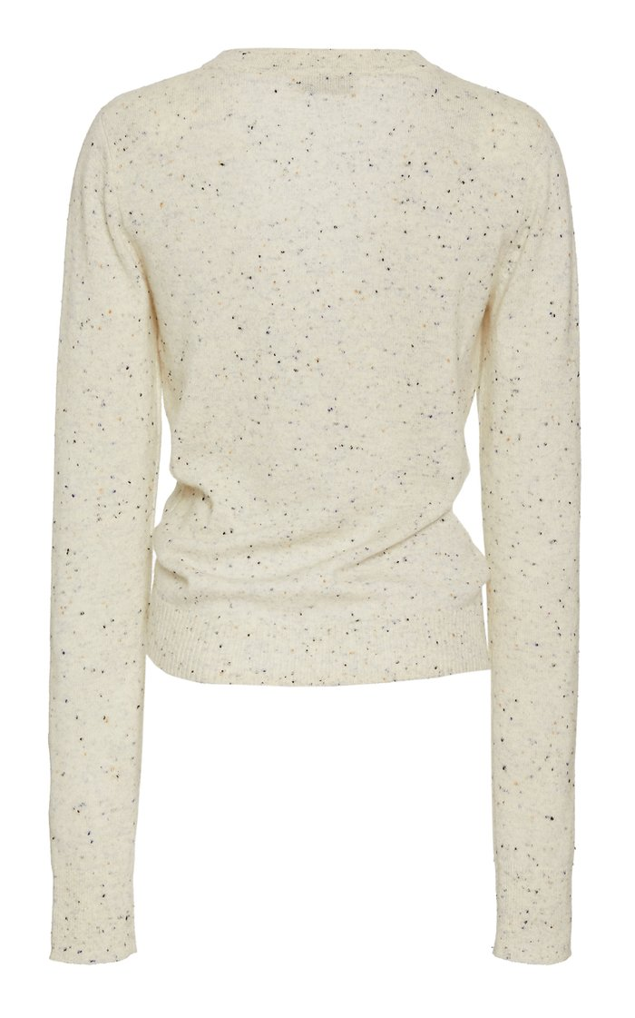 Takara Gathered-Front Cashmere Sweater