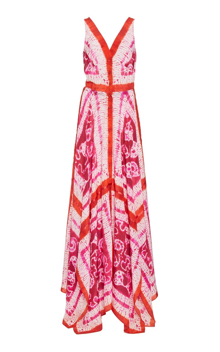 Duel Tie-Dyed Silk Maxi Dress