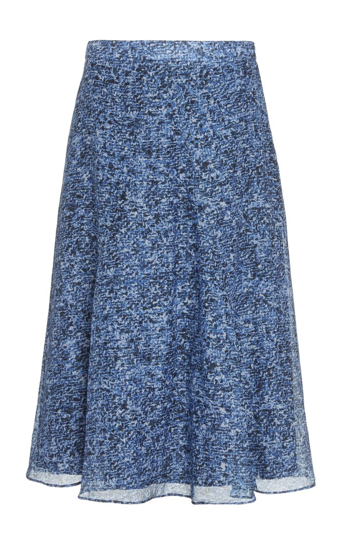 Ruri Floral Cotton Silk Voile Skirt