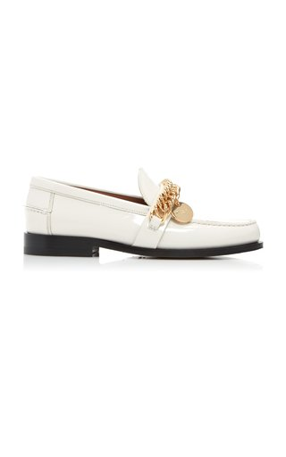 Embellished Patent-Leather Loafers