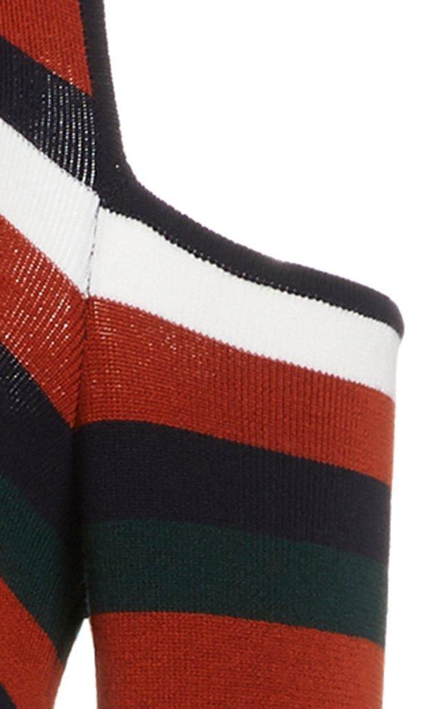 Stripe Sliced Long Sleeve Knit