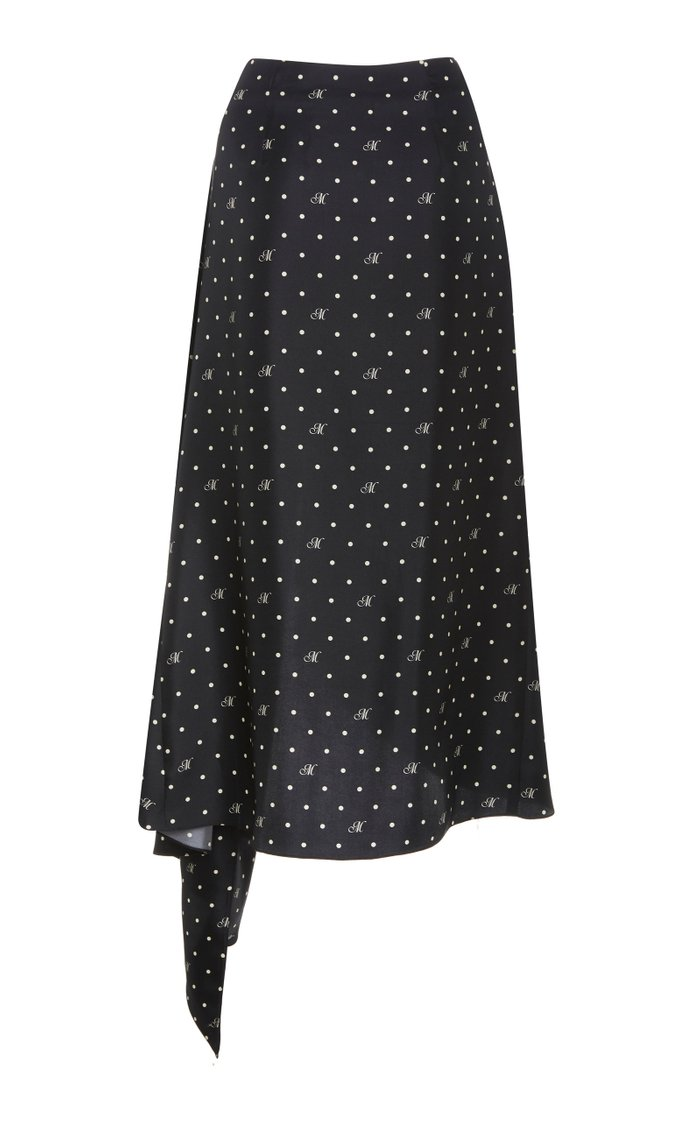 M Dot Cascade Slip Skirt