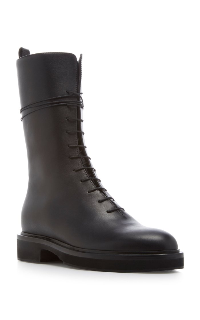 Conley Lace-Up Leather Combat Boots