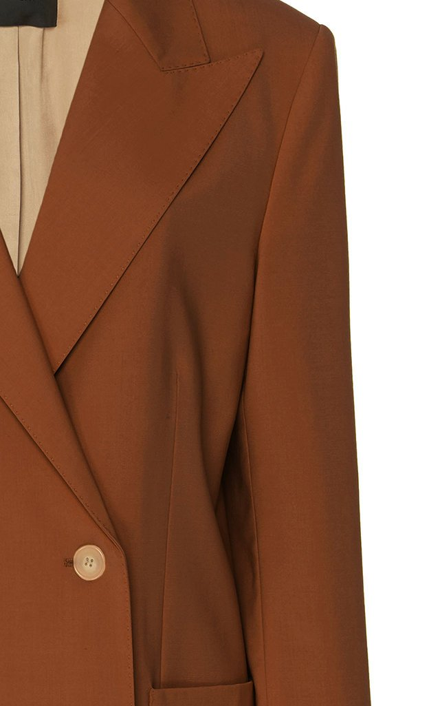 Josie Double-Breasted Wool-Twill Blazer